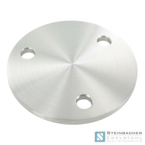 Stainless steel anchor plate v2a round lidded flange #19 plate floor coating