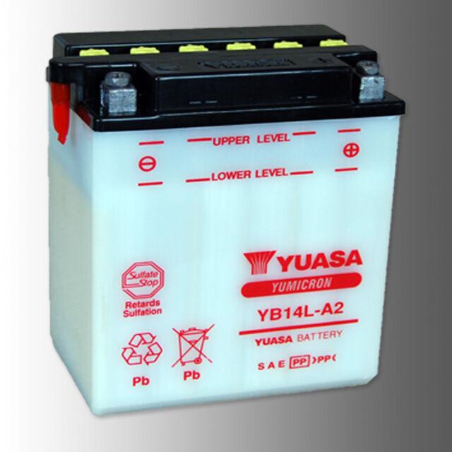 YUASA YB14L-A2 Motorradbatterie 12V 14Ah YUMICRON