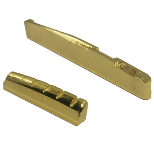 Brass 6 String Acoustic Guitar Bridge Nut and Saddle M9U3