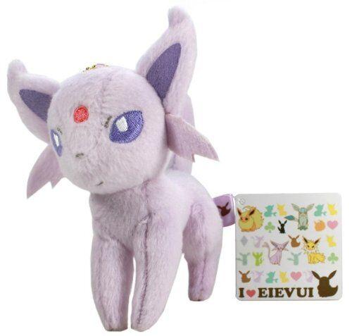 "Pokemon I Love EEVEE Plush Keychain 5/"" EspeonApprox"