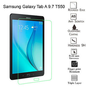 """Genuine Tempered Glass Screen Protector For Samsung Galaxy Tab A 9.7/"""" SM-T555"""