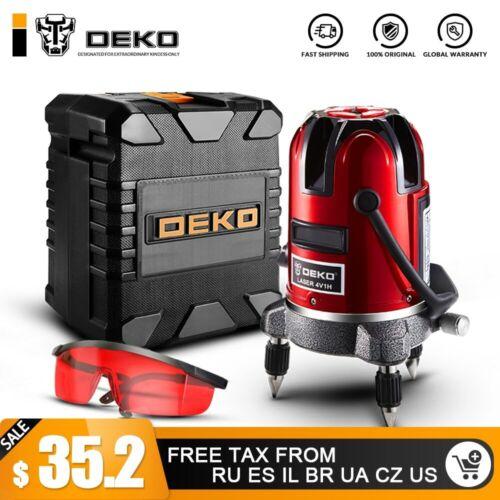 DEKO 5 Lignes 6 Points Laser Niveau Automatique Auto Nivellement 360 Vertical