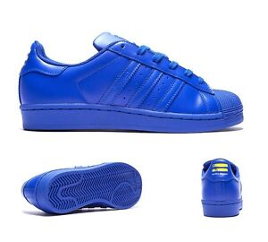 premium selection 9d13c 50626 La foto se está cargando Adidas-Superstar-Pharrell-Williams-Supercolor -Azul-Shell-Toe-