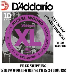 10-SETS-D-039-ADDARIO-EXL120-ELECTRIC-GUITAR-STRINGS-NICKEL-EXL120-10P-PROPACK