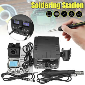 2 In 1 750W LCD Soldering Iron Station Desoldering Hot Air Rework Heater Tool