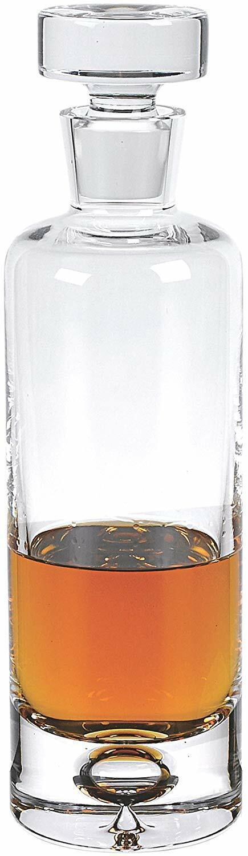 Galaxy Slim Round Handmade Crystal whisky decanter, 28 Oz (environ 793.77 g) sans plomb voitureafe