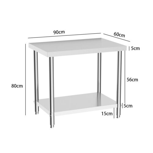 Stainless Commercial Catering Table Steel Work Bench Worktop Kitchen Laboratory