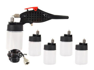 Airbrush-Hobby-Kit-0-5mm-Nozzle-Spray-Gun-with-5x-Paint-Cup