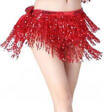 9eb764eb Belly Dance Dancer Costume Sequins Tassel Fringe Hip Scarf Belt Waist Wrap  Skirt