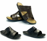Mens New Real Soft Leather Slip On Walking Summer Beach Mules Sandals Shoes Size