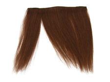 "CLIP-IN HUMAN HAIR FRINGE BANGS CYBERLOX #33 DARK AUBURN BROWN UNCUT 8"""