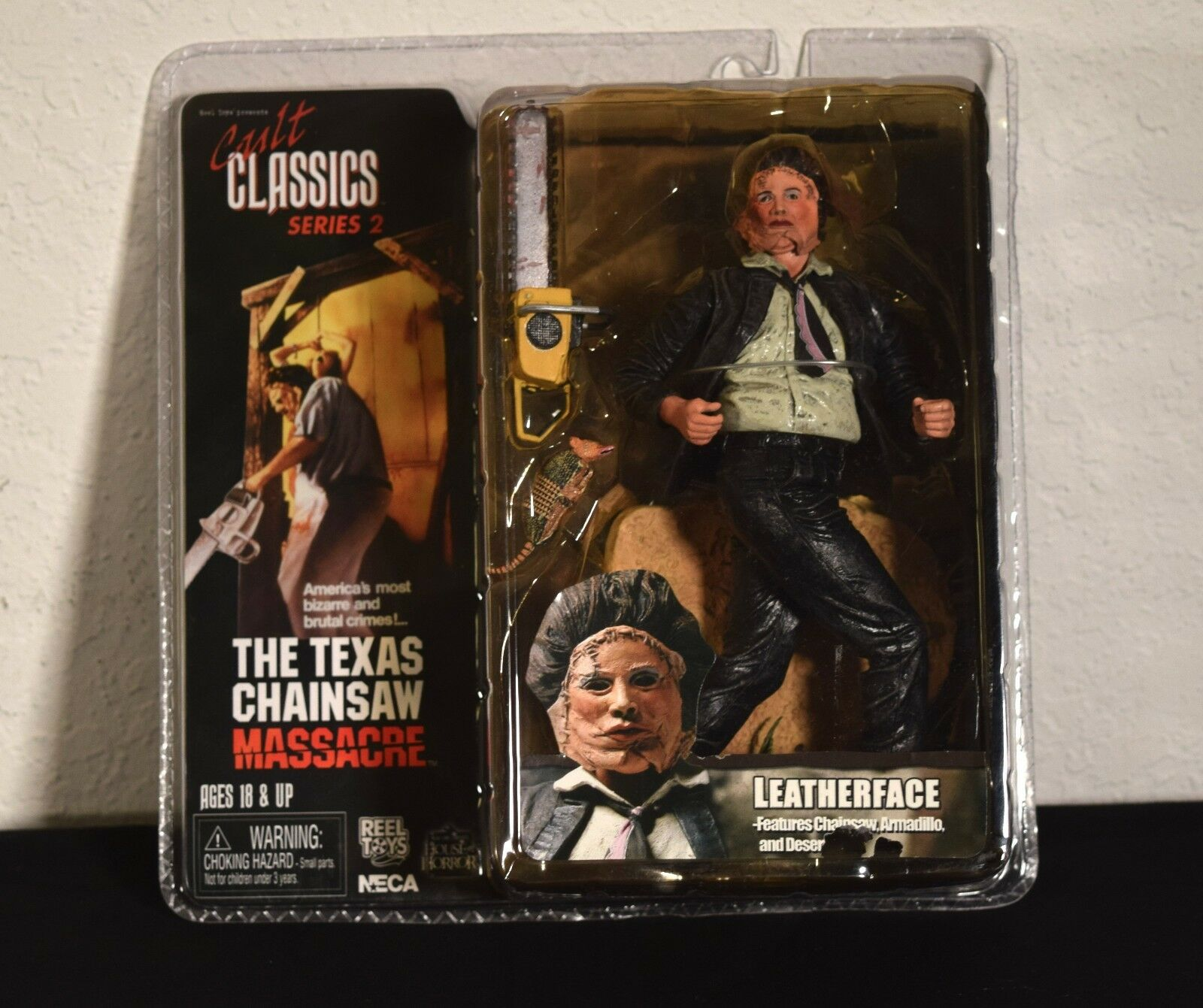 NECA Cult Classics series 2. Leatherface Texas Chainsaw Massacre Unopened. MIB.