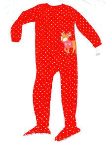 79207da75 Red Girl Carter s Fleece Footed pajama Blanket Sleeper Kids Size 10 ...