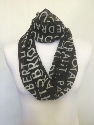Infinity Scarf Jersey Or Chiffon Black /& White London Busblind Loop Scarves