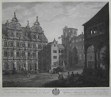 Heidelberg -Erste Ansicht des Heidelberger Schlosses -Kupferstich Graimberg 1812