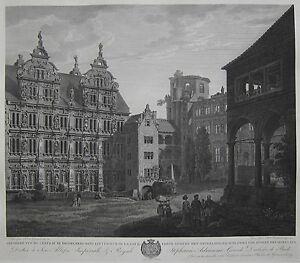 Heidelberg-Erste-Ansicht-des-Heidelberger-Schlosses-Kupferstich-Graimberg-1812