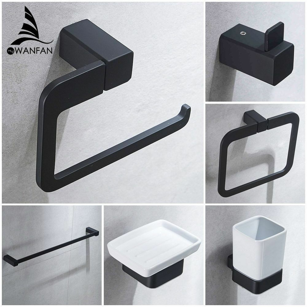 European Modern Bathroom Toilet Paper Holder Cup Holder Soap Dish Robe Hook