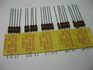 10000000 Ohm 10M 10/% Carbon Composition Resistor 1//2 Watt 10-Meg NOS Qty 25