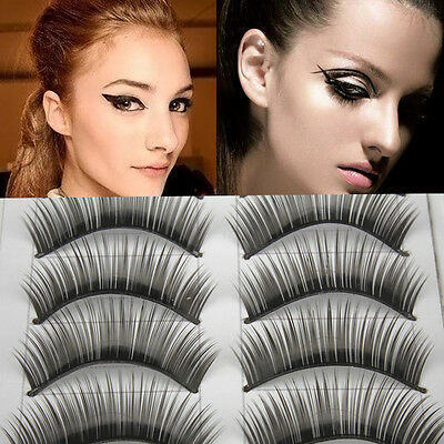 10 Pairs Natural Long Thick Black False Eyelashes Makeup Charming Eyes Lashes