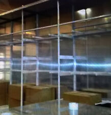 Shelving Unit Metal Retail Clothing Store 10 High 12 Wide 4 Deep Complete Set