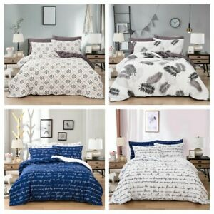 Traditional-Duvet-Cover-Quilt-Cover-Pillow-Shams-Queen-King-Size-Bedding-Set-US