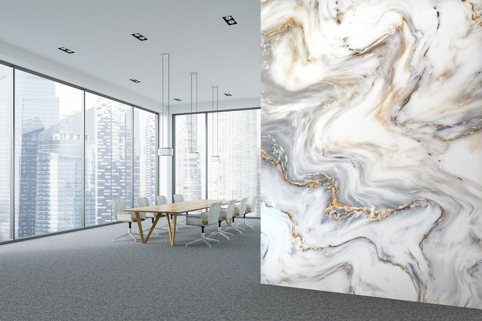 3D Fashion Water Ink 2 Texture Tiles Marble Wall Paper Decal Wallpaper Mural AJ