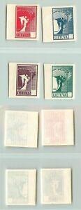 Lituanie-1990-SC-371-374-neuf-sans-charniere-couleur-preuve-Papier-Blanc-valeurs-manquantes-f2701