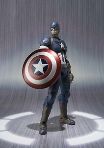 BANDAI-S-H-Figuarts-Marvel-Avengers-age-of-ultron-Captain-America-Action-figure