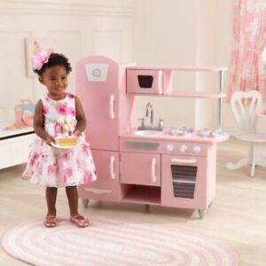 Details about Kids Pink KidKraft Vintage Retro Pretend Play Toy Kitchen  Cooking Playset Girls