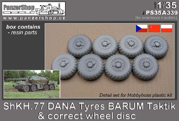 ShKH.77 DANA Tyres BARUM correct wheel disc 1 35 PanzerShop A339 resin Hobbyboss
