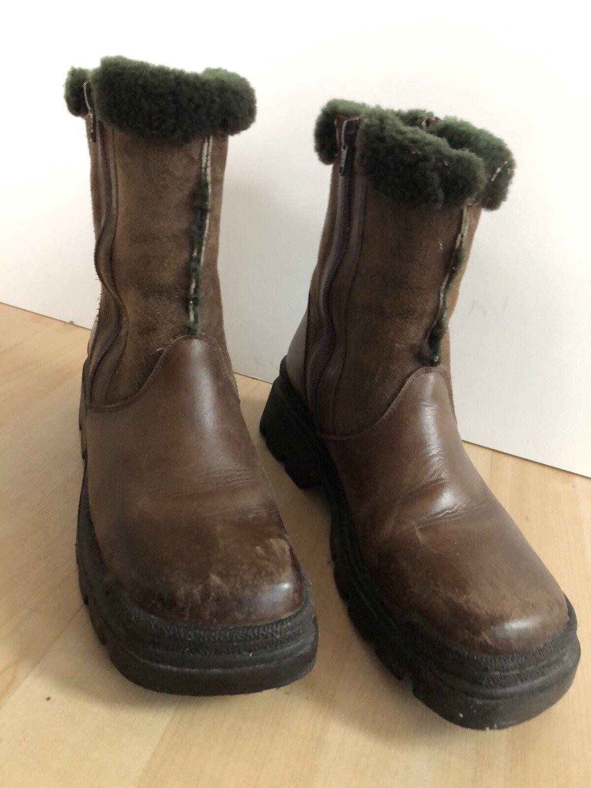 Vintage Vintage Vintage década de 1970 década de 1980 Mod psicodélico Barneys Cuero De Piel De Oveja botas De Lana  barato en línea