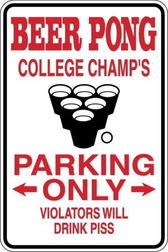 Beer pong players Parking only Funny Novelty Stickers JDM Euro Sma SM1-133