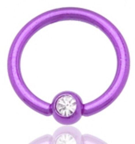 piercing anneaux  bille 5 mm diam de la tige 1,6 mm dian intérieur 11 mm