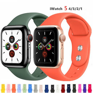 For Apple Watch Series 5 4 3 2 38 42mm 40 44mm Silicone Sports Iwatch Band Strap Ebay