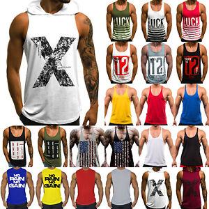 Mens-Gym-Bodybuilding-Vest-Tank-Top-Muscle-Sport-Fitness-Stringer-Casual-T-Shirt