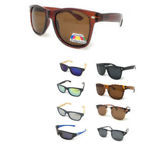 Classic-Polarized-Sunglasses-Club-Aviator-Bamboo-Sports-Mirror-Men-039-s-Women-039-s