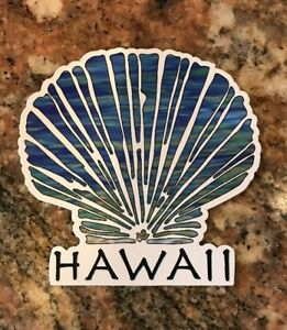Hawaii-Aloha-Sticker-Shell-Beach-Tropical-Surf-Surfing-Islands