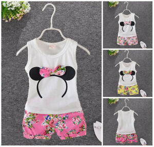1-set-baby-toddler-Girls-clothes-summer-Tank-short-pants-kids-outfits-floral