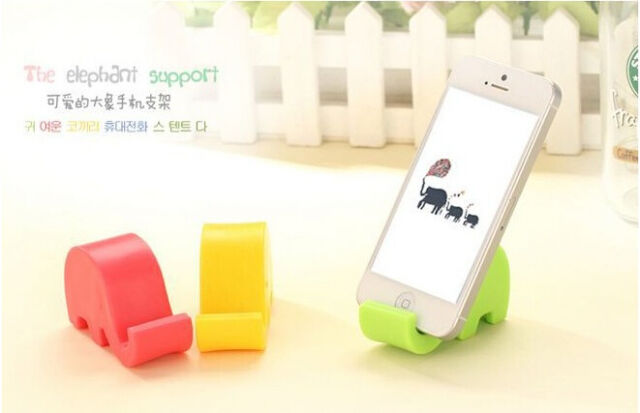 2 x Cute Elephant Phone Stand Mobile Holder MP3 Multi Colour All Phone 1.5 width