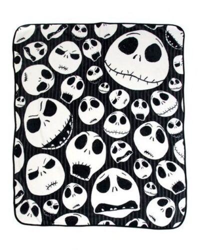 Nightmare Before Christmas Jack Skulls Skellington Pin Stripes Throw 46x60 NEW