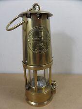 Miners lamp Protector Eccles Type 6 FULL BRASS, mining memorabilia - Free UK P&P