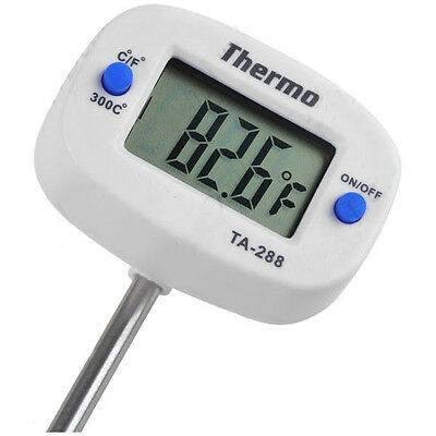 New Digital Food Cooked Thermometer Temperature Probe for Kitchen BBQ Meat LCD
