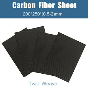 200X250X1.5mm With 100/% Carbon Fiber plate panel sheet 3K plain weave