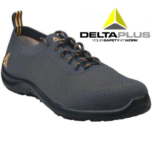 WOMENS DELTA SAFETY FLEXIBLE LIGHT CLOG LACE UP CANVAS WORK TRAINER  SHOES