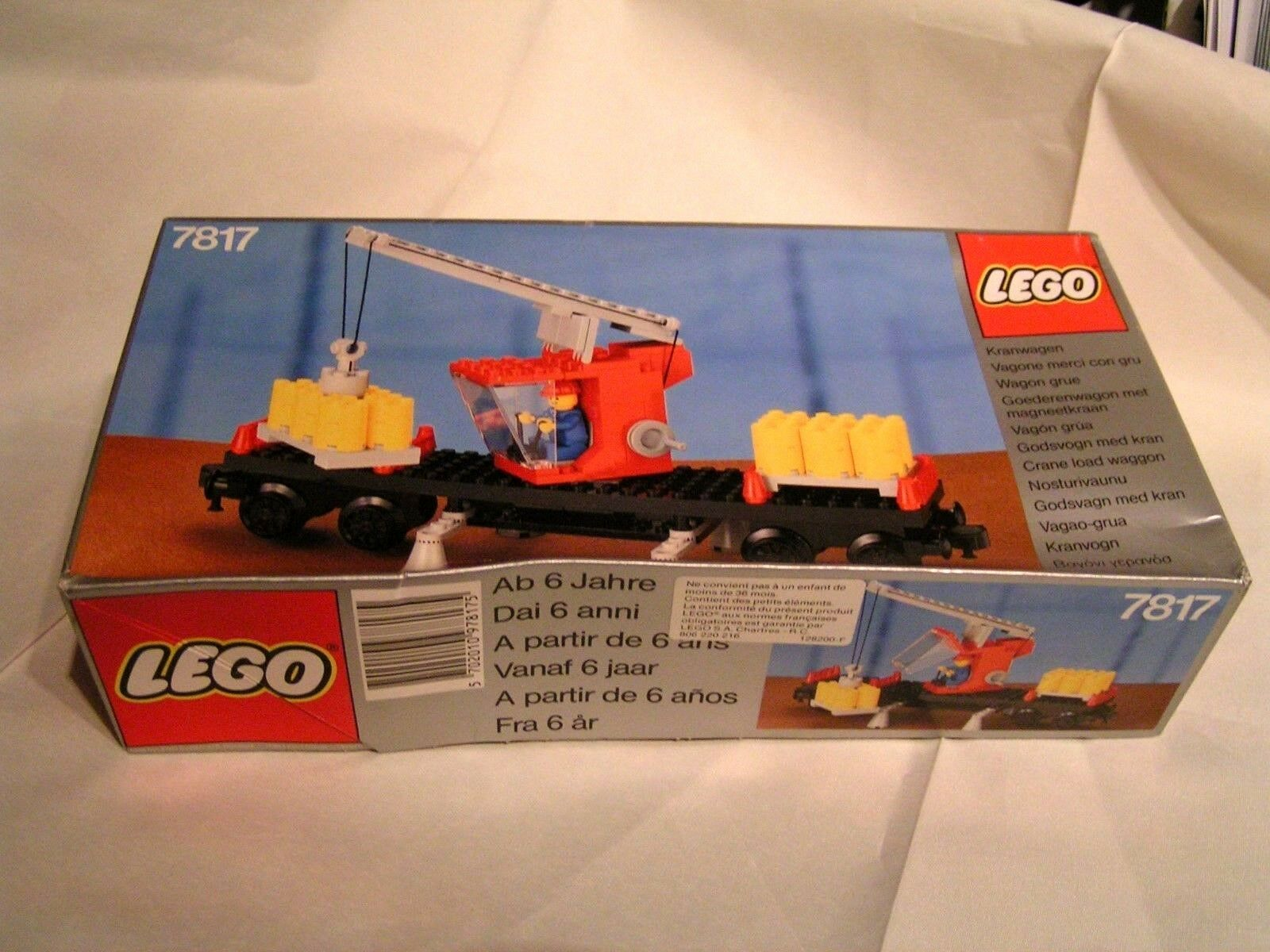 LEGO TRAIN   -     WAGON GRUE (CRANE) COMPLET  ref. 7817  EN BOÏTE - TRES RARE c9a717