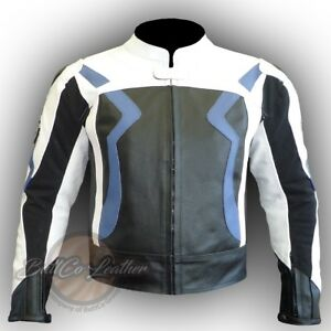 BMW 3875 Motorcycle Motorbike Biker Original Leather Jacket Armoured Racing Coat