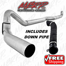 MBRP S6004PLM Down Pipe Back Single Side Off-road Exhaust System With Front Pipe