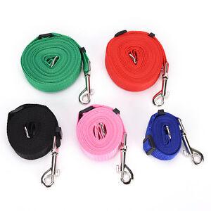 Dog-leash-pet-walking-training-leash-harness-collar-lead-strap-5ft-10ft-20ft-UB9