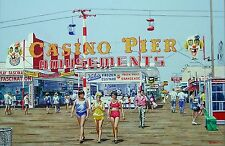 "Kohr's Casino Pier Seaside Heights Boardwalk NJ Fine Art Lithograph 21"" x 14"""