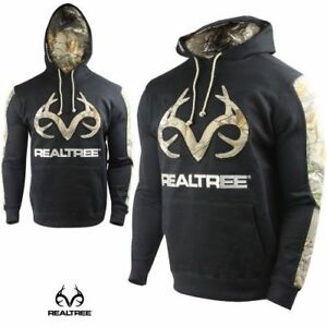 Realtree-Men-039-s-LARGE-Pine-Black-Hoodie-Realtree-Xtra-Camo-Embroidered-Logo-NEW